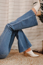 In Hot Water High-Rise Flare Jeans