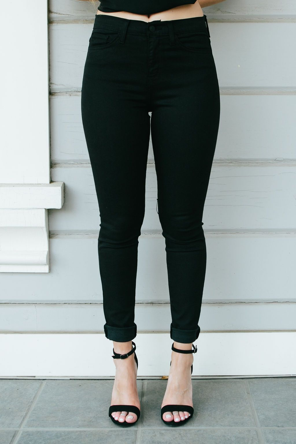 Women's Black High Waisted Skinny Jeans