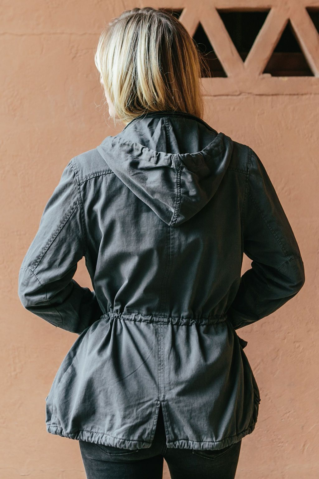 Women's Graphite Light Weight Cargo Jacket