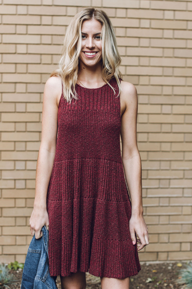 Cottage Knit Sweater Dress