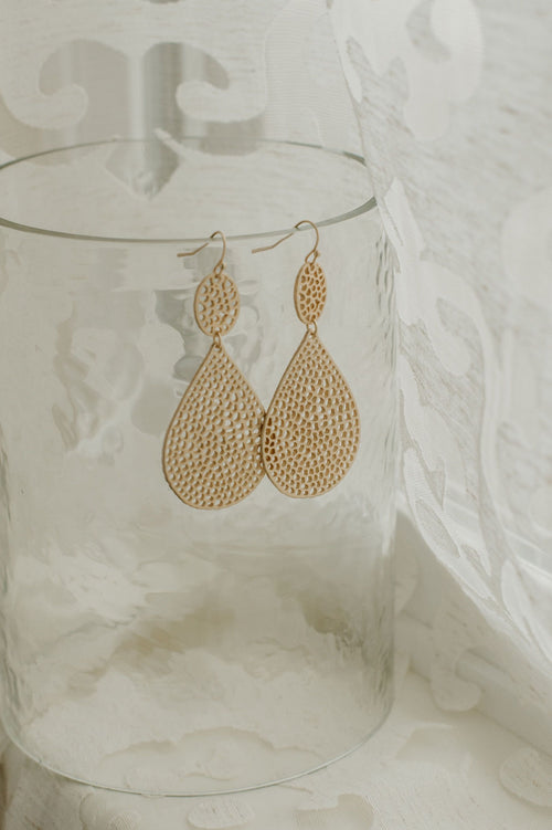 Drops Of Honeycomb Earrings