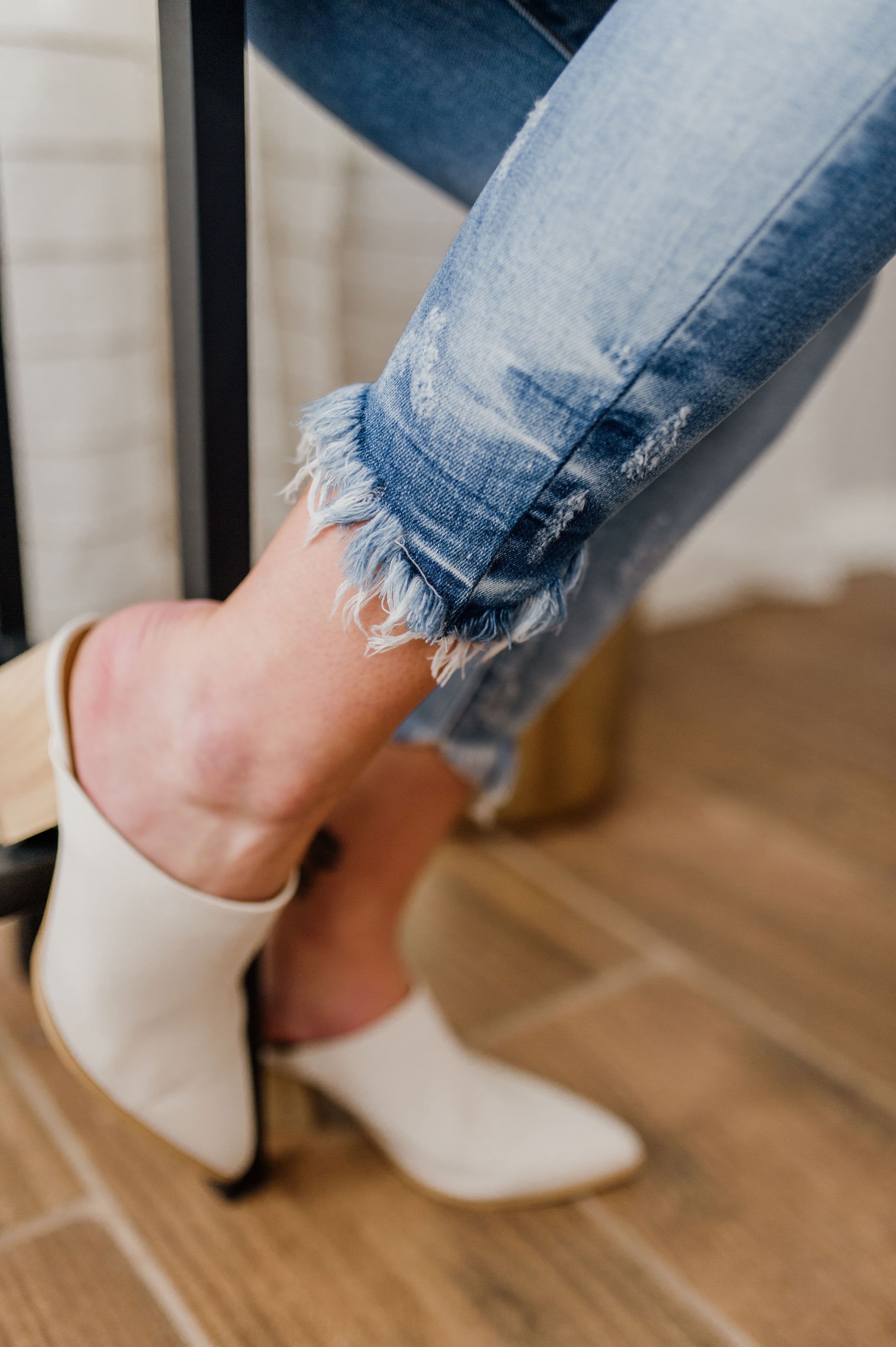 Maya's High Rise Ankle Skinny
