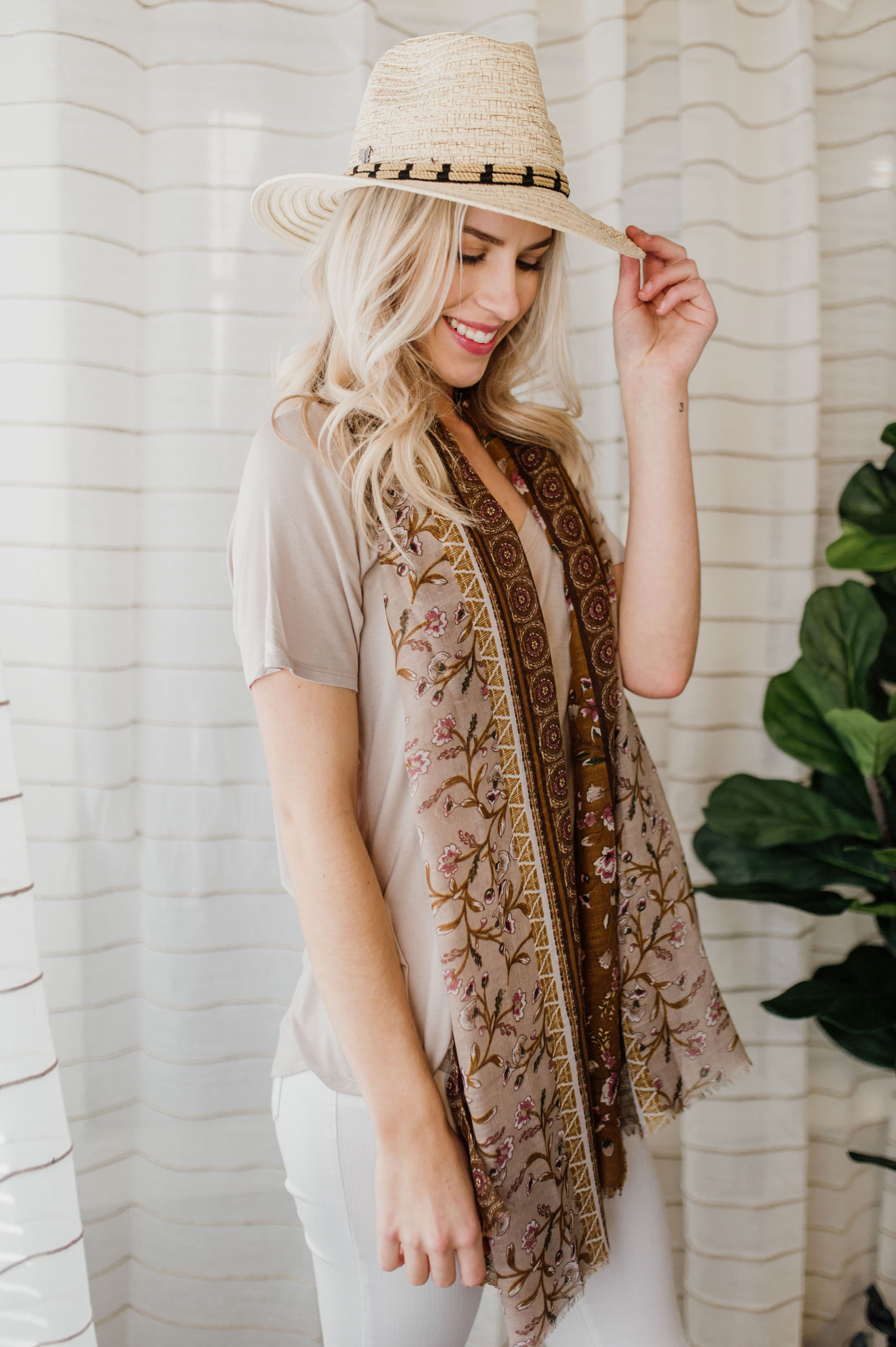 Floral Frills Scarf