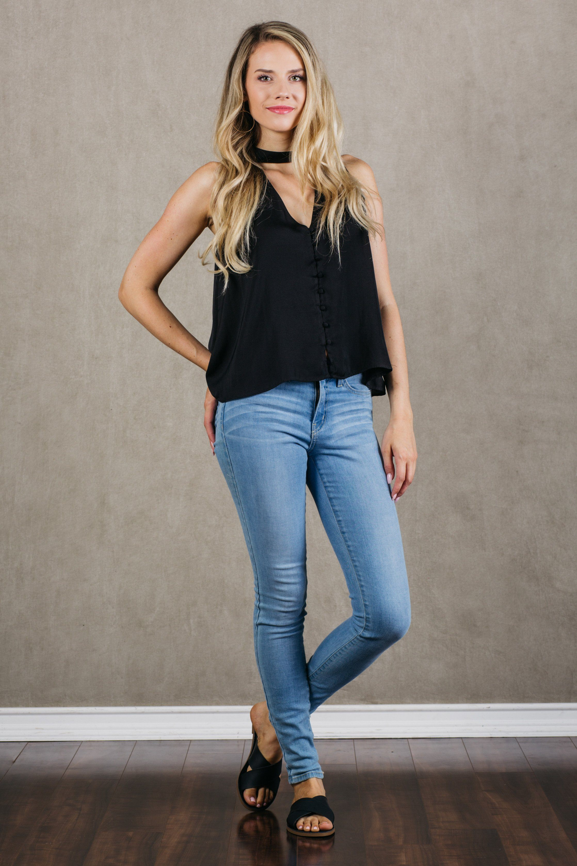 FM Tayler High Rise Light Skinny Jean