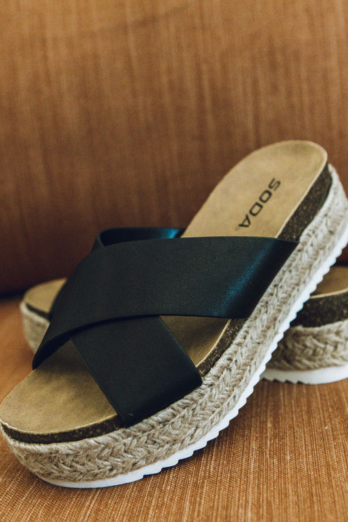 Walking On Sunshine Sandal - Black