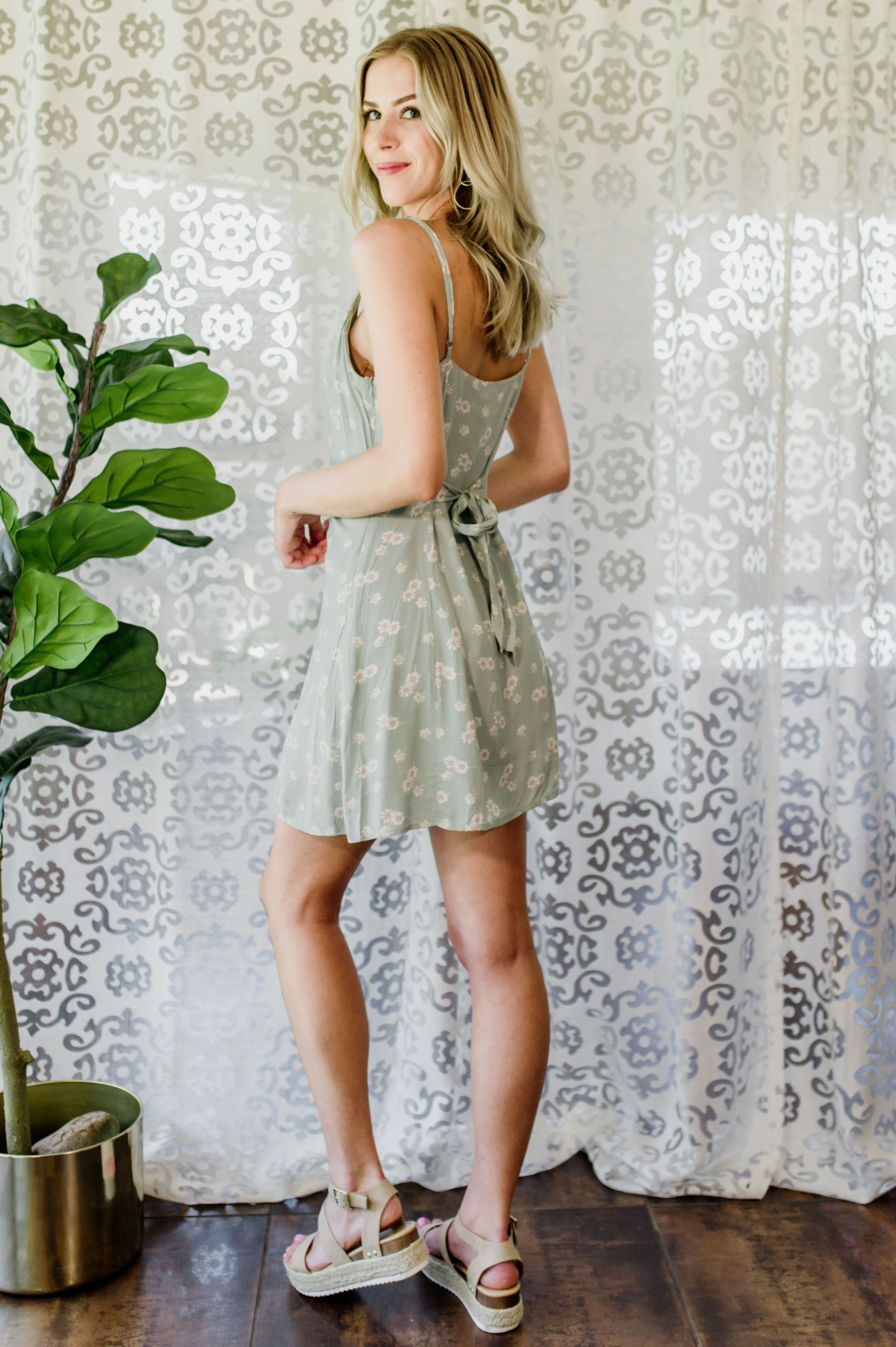 Summer Sun Button Dress