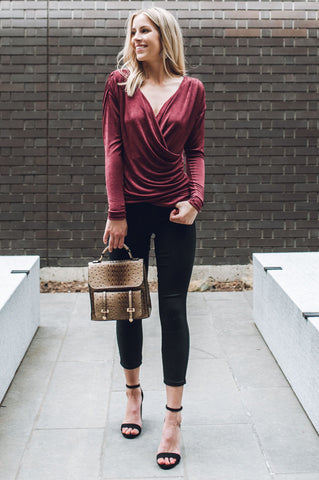 Chic V-Neck Blouse
