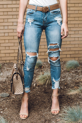 Daring Denim Skirt