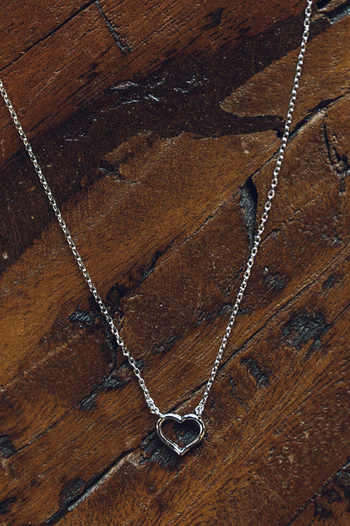 Silver Lucky Charm Heart Necklace
