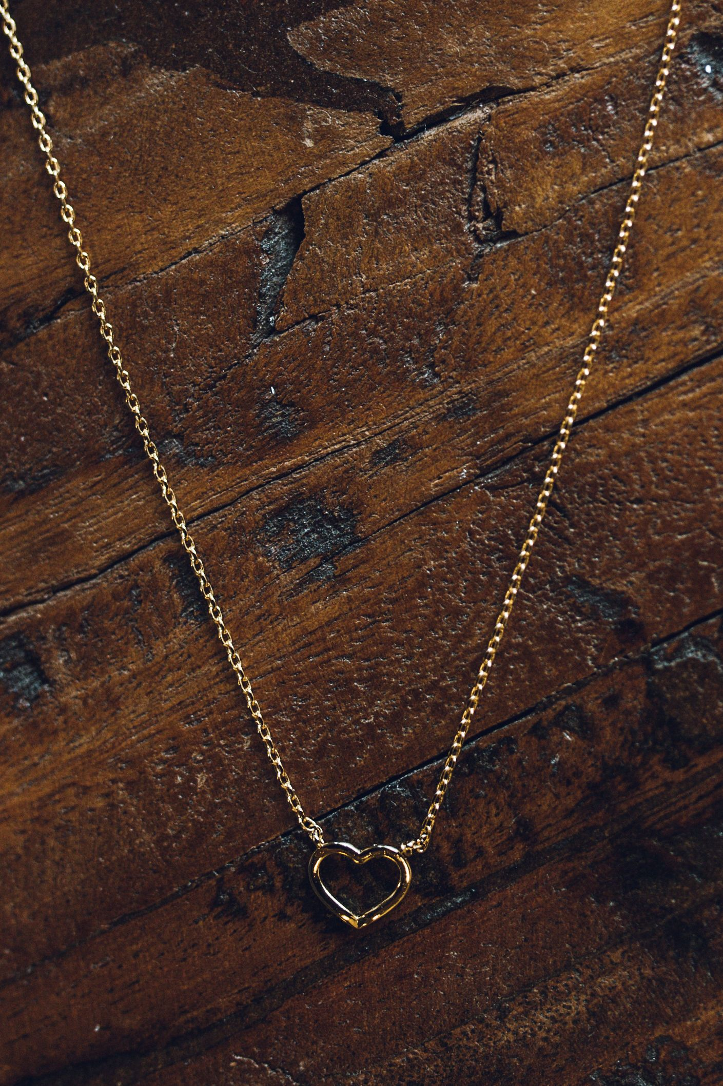 Gold Lucky Charm Heart Necklace
