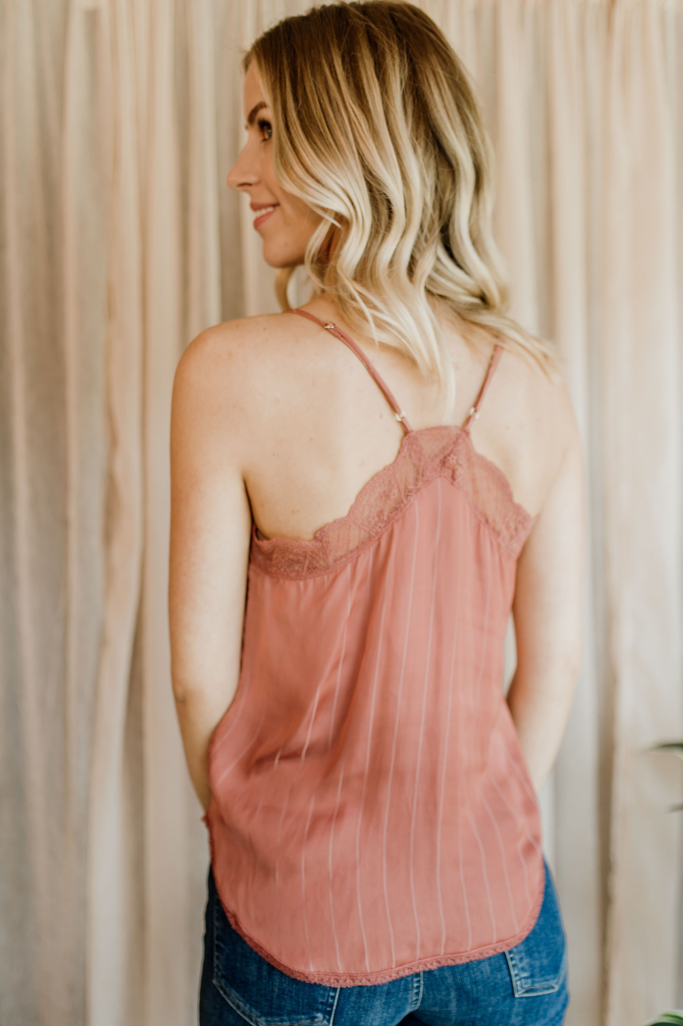 Silk Shadow Stripe Cami