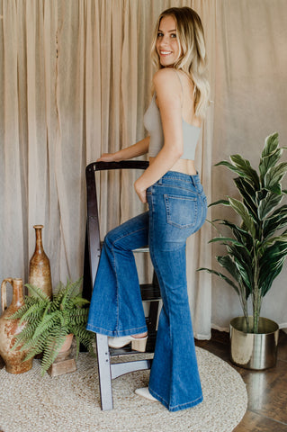 East Coast Crop Flare Jean