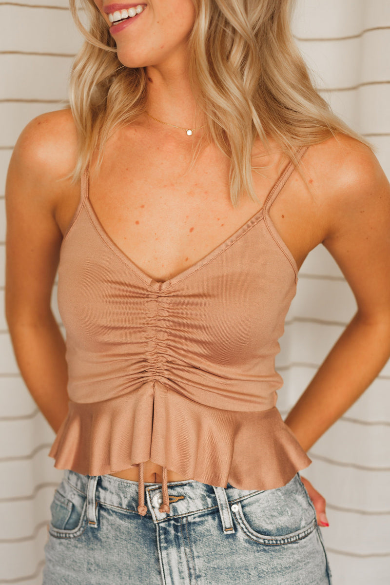 Lost In Emotion Ruched Cami