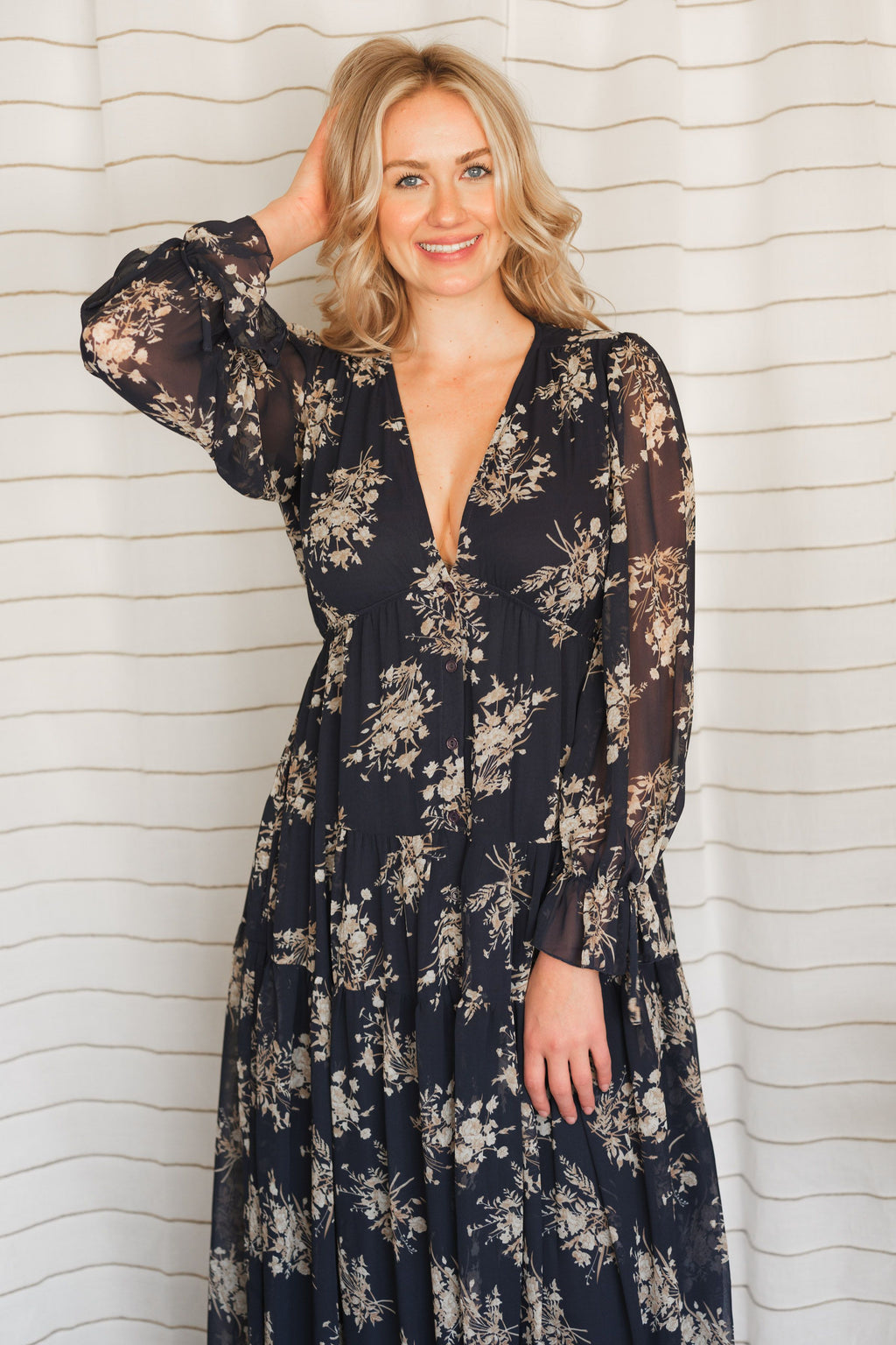 South Gate Tiered Boho Maxi Dress