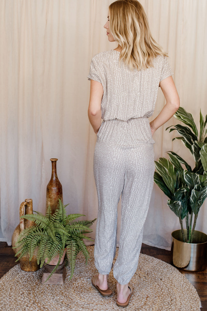 Pebbles Surplice Jumpsuit