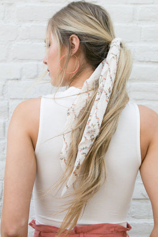 Courtside Strips Hair Tie / Hair Scarf