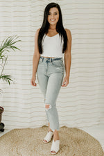 Ally High Rise Straight Crop