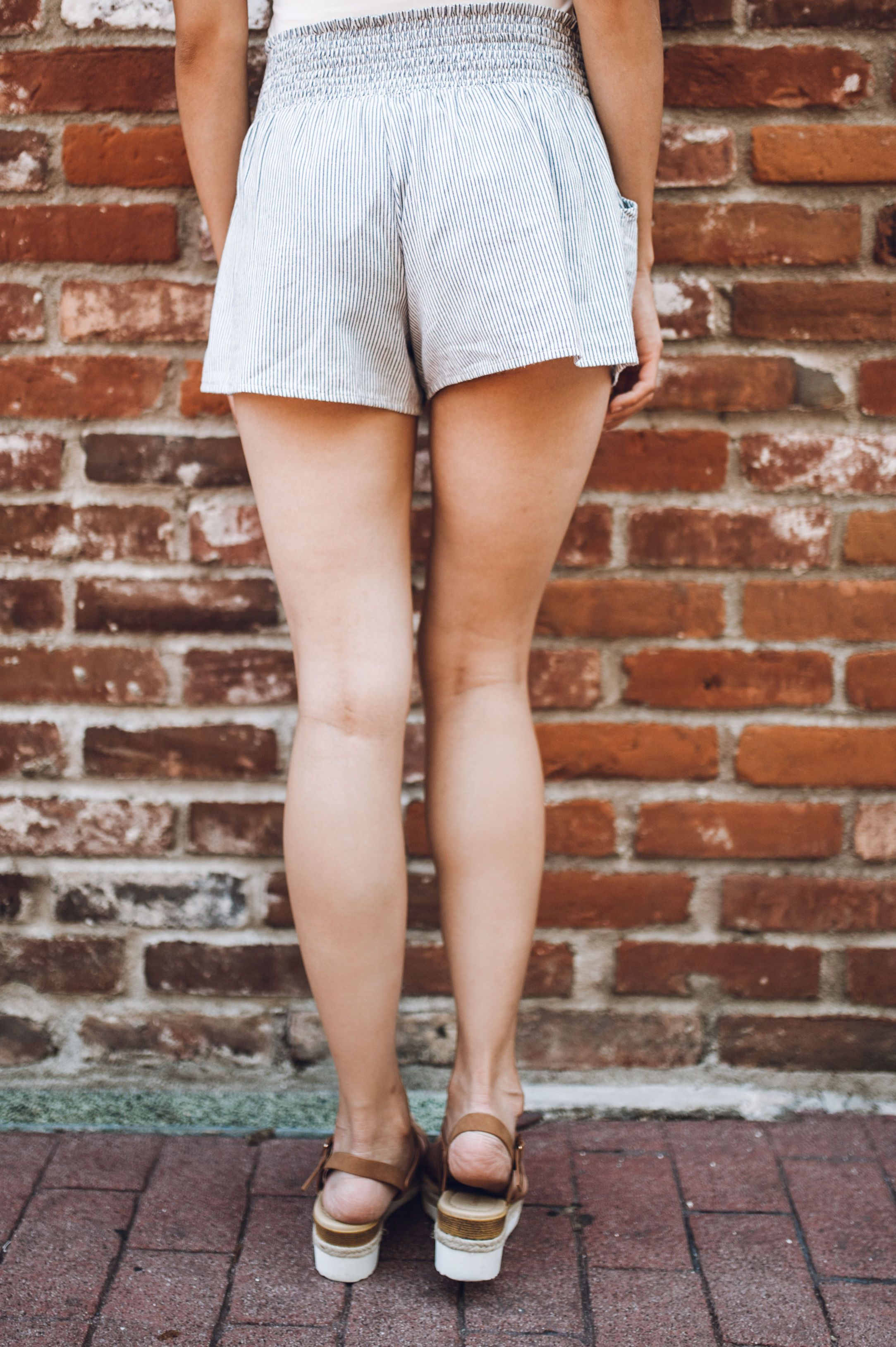 Railroad Striped Shorts