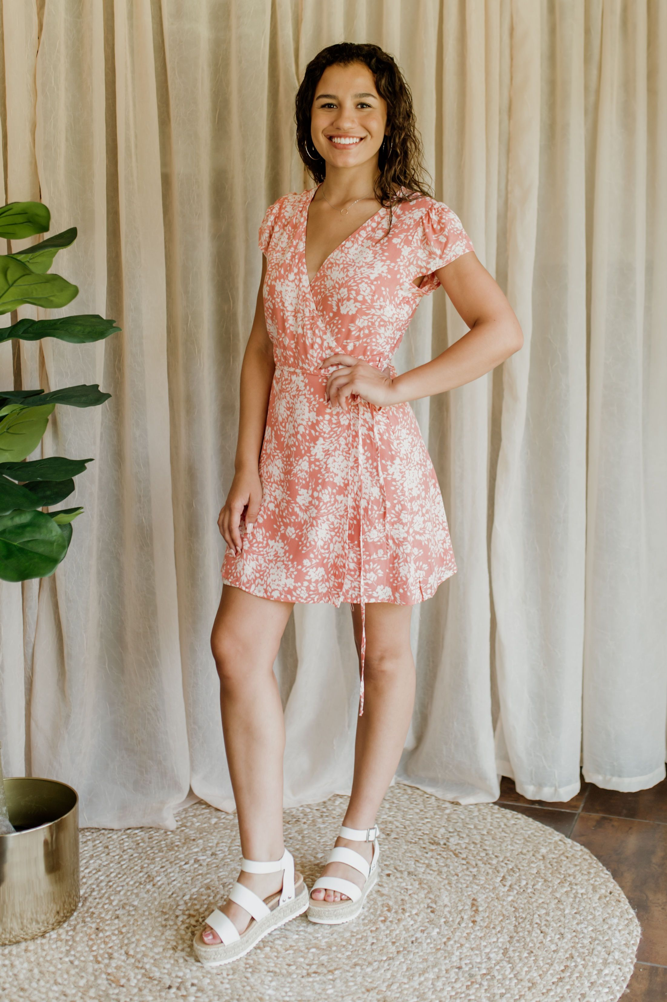Summer Skies Wrap Dress