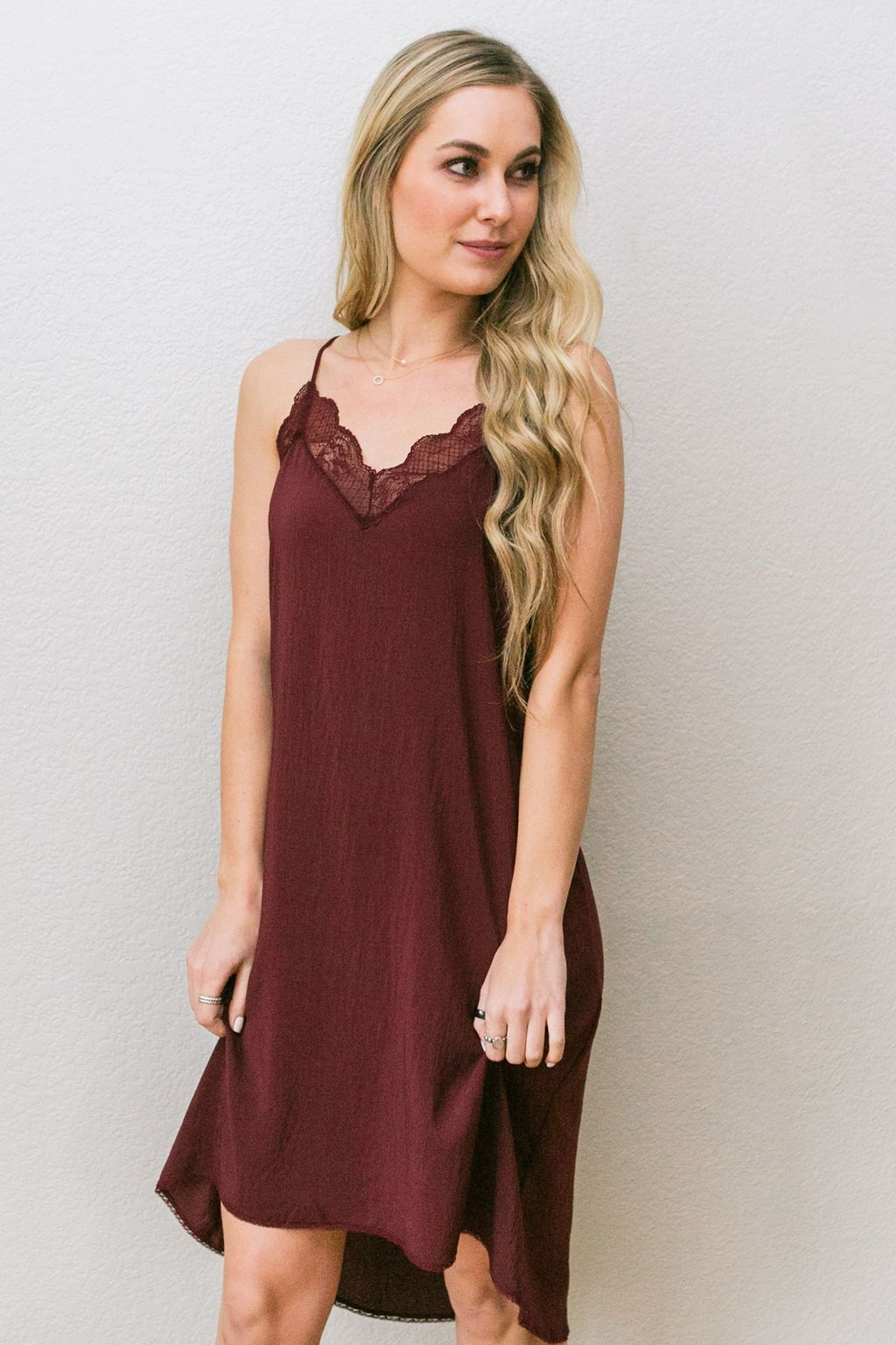 Love Me In Lace Slip Dress