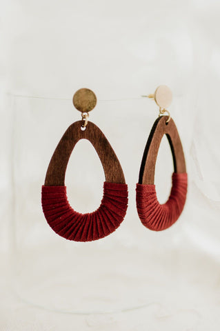 Red Sun Gold Earring