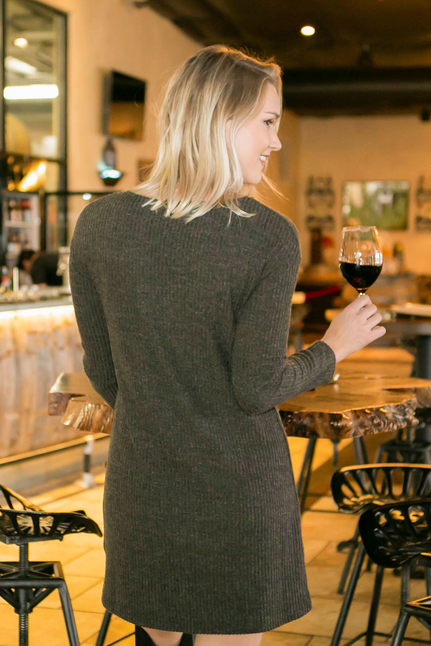 Charmed For Fall Sweater Dress