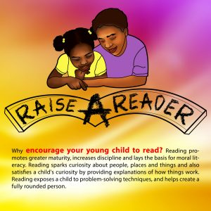 Raise A Reader Encourage Your Young Child To Read Poster