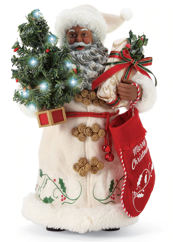 A Christmas Tradition African American Santa Claus - 10.5""