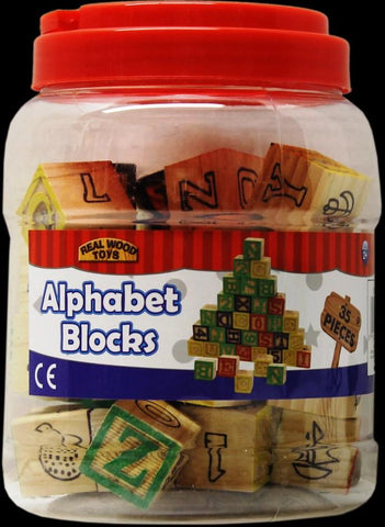 ABC Wooden Stack N' Build Block