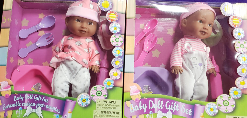 Black baby doll gift set