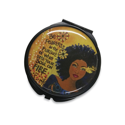 Set Your Soul On Fire Compact Mirror