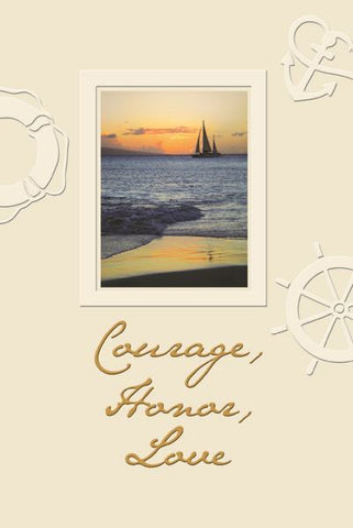 Courage, Honor, Love - Father's Day Card