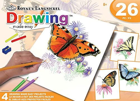 Drawing Made Easy 4 Butterfly Projects Set