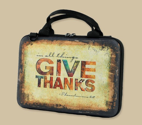 Give Thanks & Walk by Faith Bible Cover