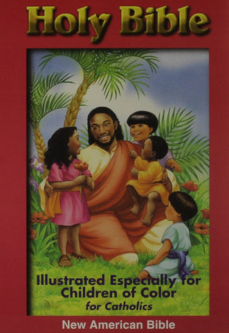 Children of Color Holy Bible NAB Burgundy - For Catholics