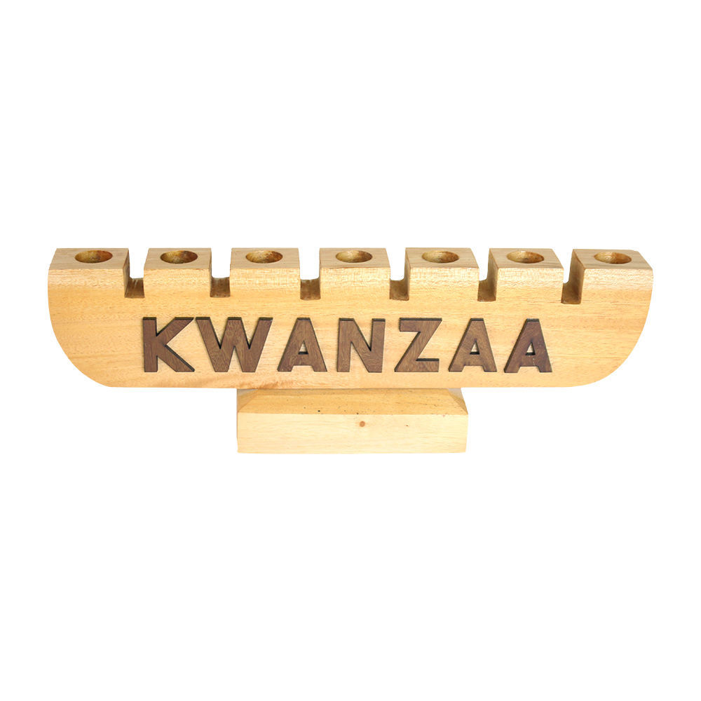 Kwanzaa Kinara - Natural Wood