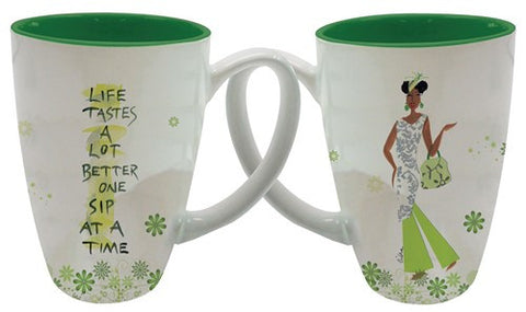 Life Tastes a Lot Better, One Sip at a Time Latte Mug.