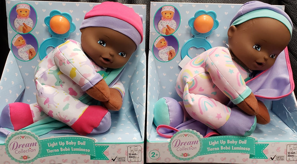 Light Up Baby Black Doll
