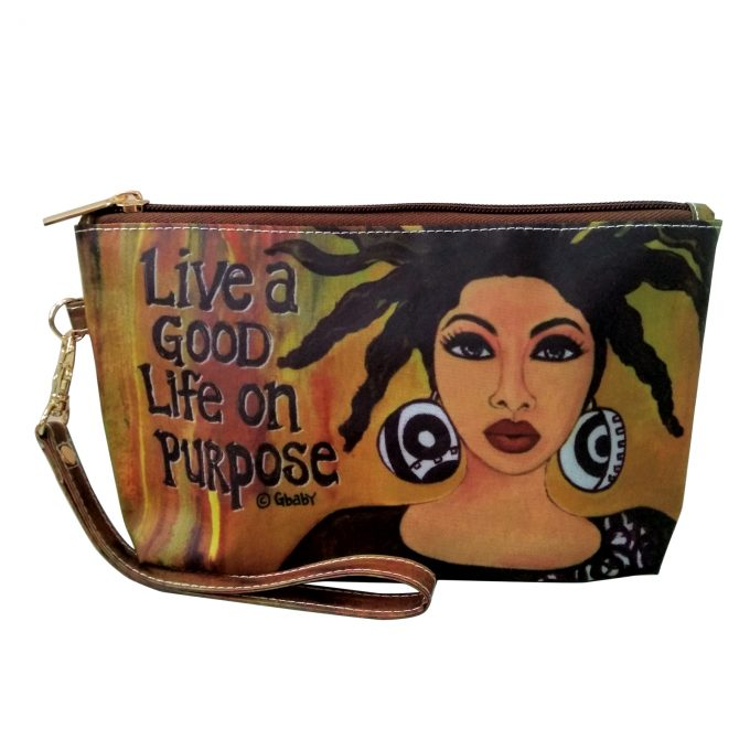 Live A Good Life On Purpose Cosmetic Pouch