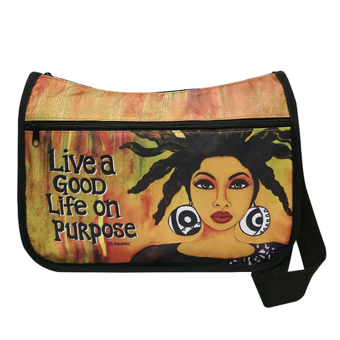 Live A Good Life On Purpose Crossbody Bags