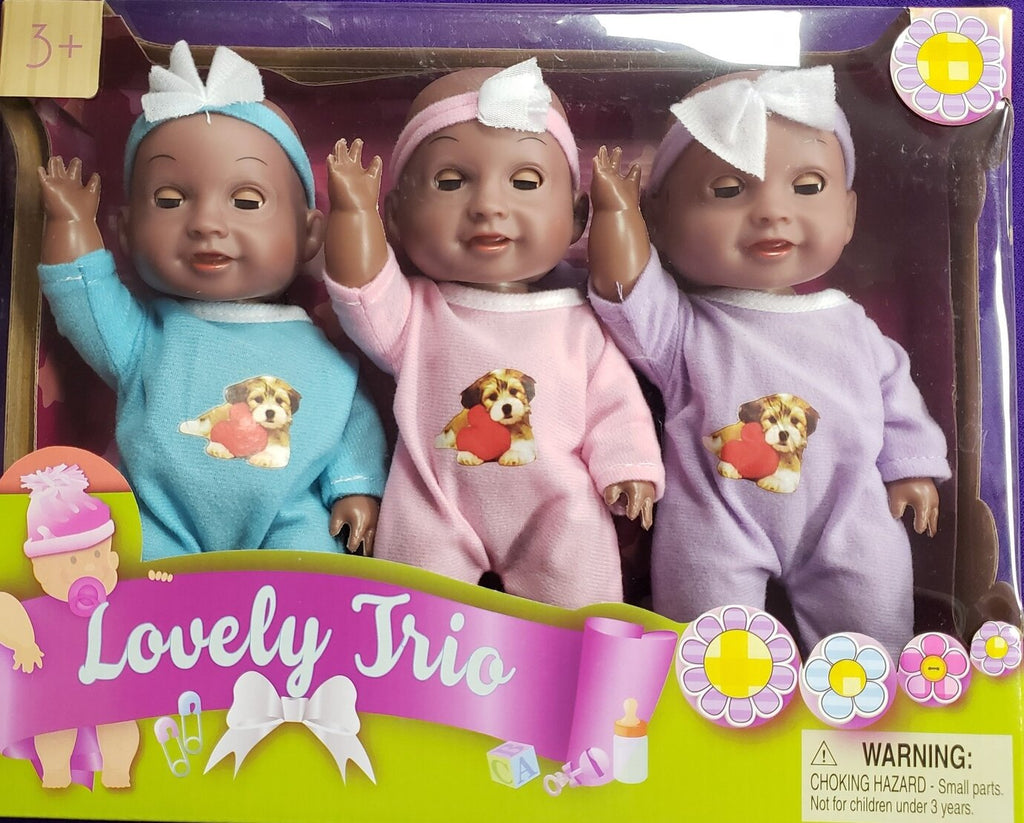 Lovely trio Black baby dolls
