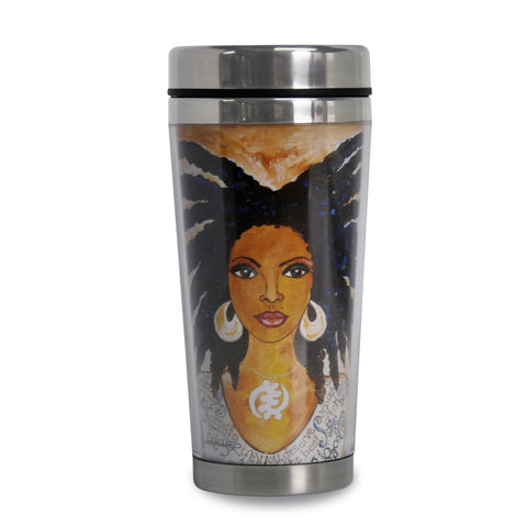 Nubian Queen African American Travel Mug