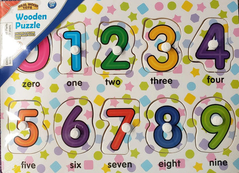 Numbers Wooden puzzle with peg