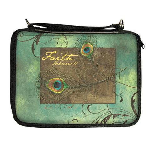 Peacock Feathers Bible Cover