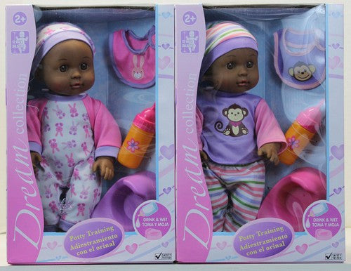 Potty Training African American doll