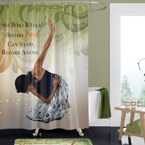 She Who Kneels African American Shower Curtain