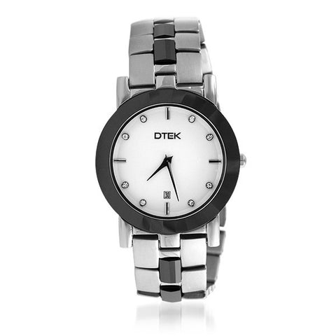 DTEK 008 Stainless Steel and Ceramic Ladies Watch