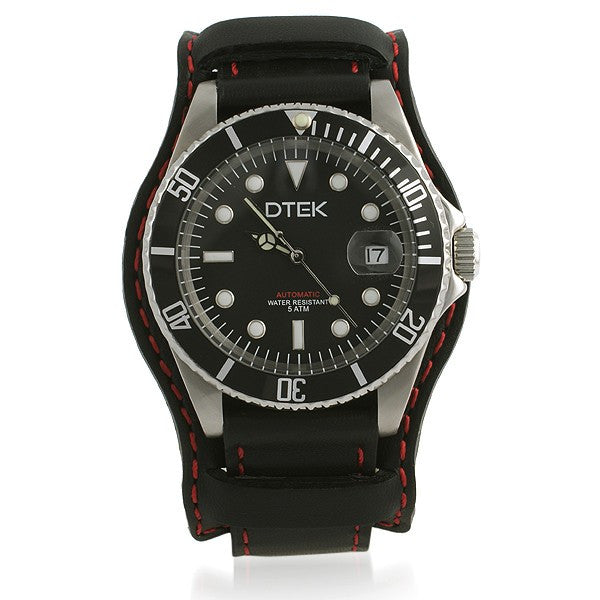 DTEK 005 Automatic Watch With Leather Military Band