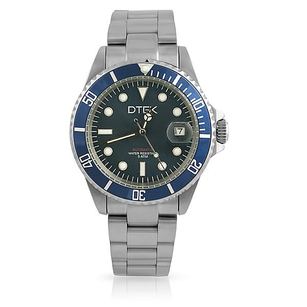 DTEK 005 Full Steel Automatic Diver Watch Blue