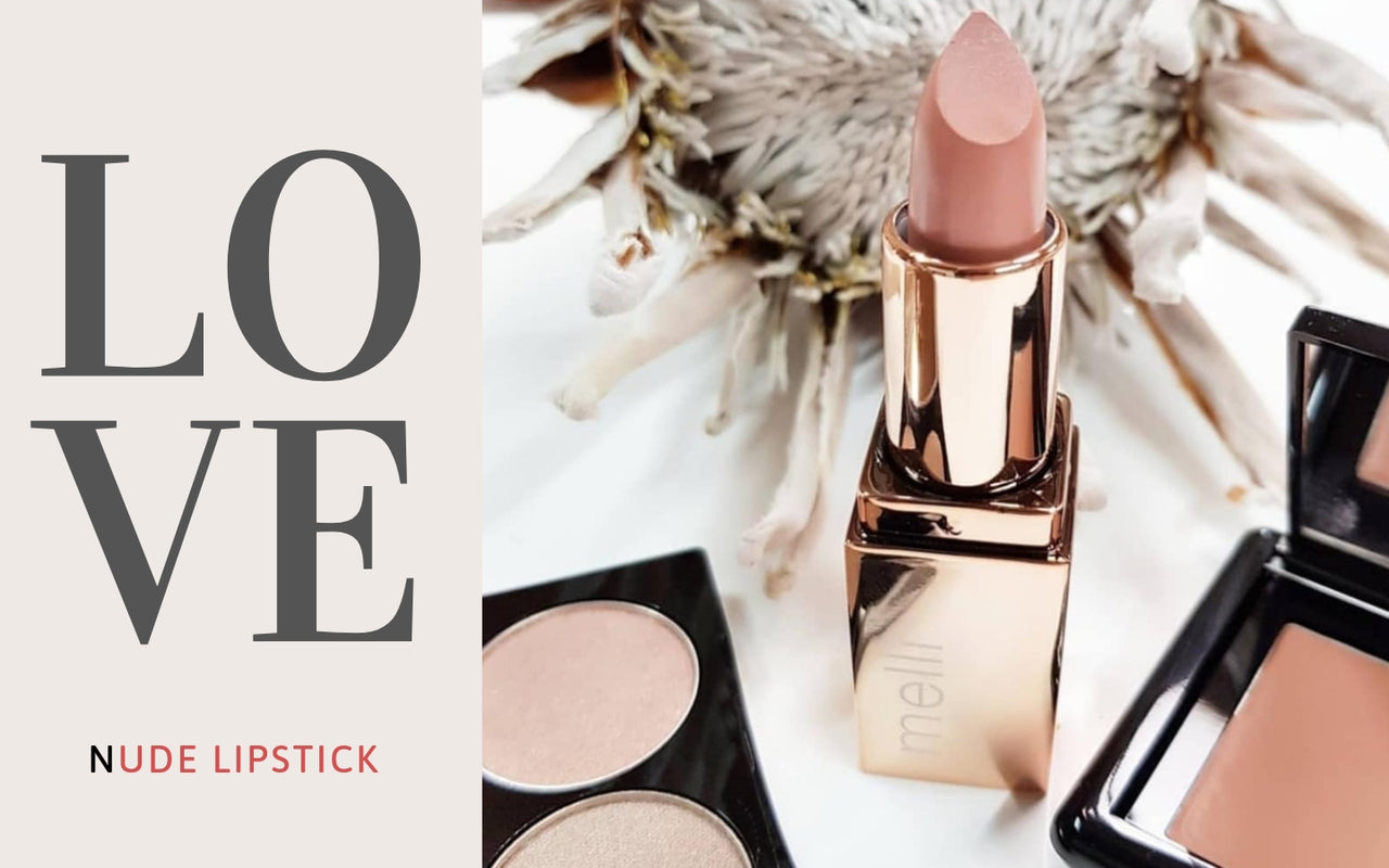 melli cosmetics best selling nude lipsticks in rose gold packaging